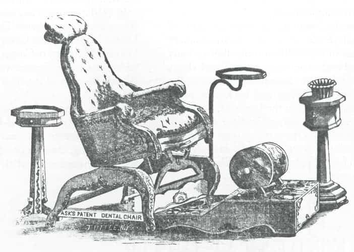 silla reclinable de odontologia