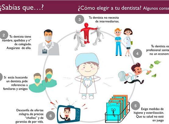 Como elegir un buen dentista #infografia